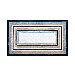 Riva Carpets LOG CABIN REVERSIBLE BATHMAT (Blue)