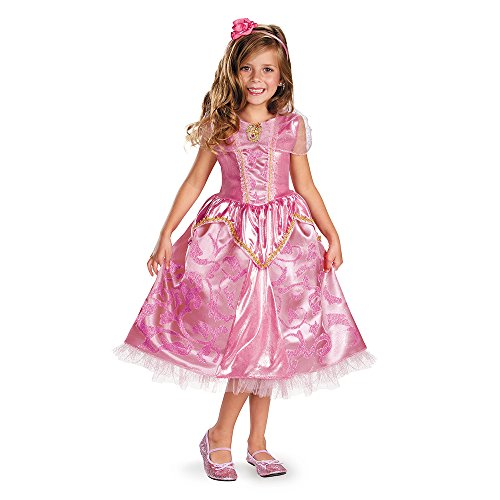 Disguise Disney's Sleeping Beauty Aurora Sparkle Deluxe Costume