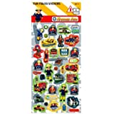 FIREMAN SAM - LARGE Fun Foiled Sticker Sheet