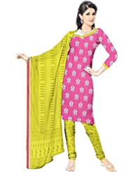 DARPAN TEXTILES Ethnicwear Women's Dress Material(DTPCVARLIPINK-1-5_Pink_Free Size)