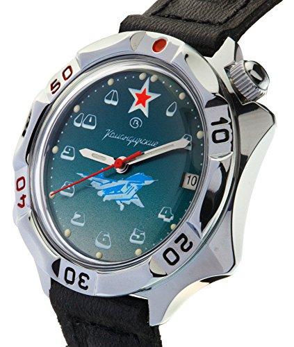 Vostok Komandirskie Vostok Komandirskie 531124 /2414a Military Special Forces Aviator Russian Watch Green