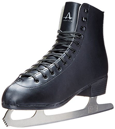 American Athletic Shoe Men's Tricot Lined Figure Skates, Black, 9 (Ice Skate Shoes Men compare prices)