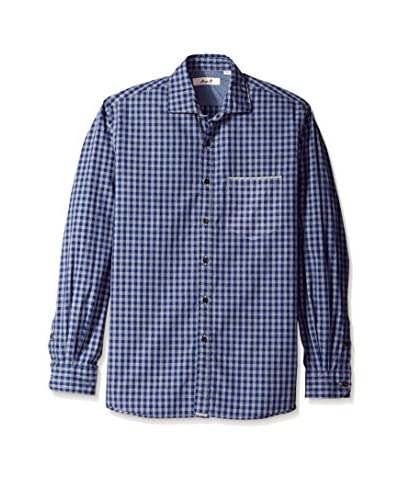 Borgo28 Men's Long Sleeve Table Check Shirt