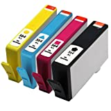 E-Z Ink Remanufactured Ink Cartridge Replacement for New Generation HP 564XL CN684WN CN685WN CN686WN CN687WN (1 Black, 1 Cyan, 1 Magenta, 1 Yellow)