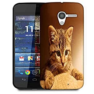 Snoogg Cute Kitty Designer Protective Phone Back Case Cover For Moto X / Motorola X