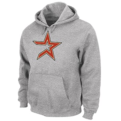 MLB Houston Astros Suede Tek Long Sleeve Hooded Fleece Pullover