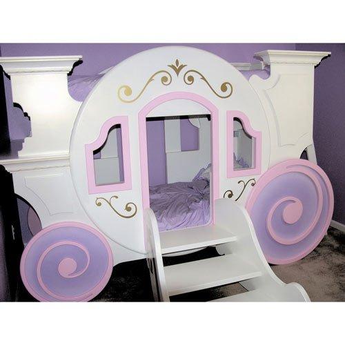 Cinderella Carriage Bunkbed - Color: Pink/Lavender front-188708