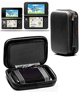 Navitech - Housse étui de transport anti-chocs, pour Nintendo 3DS XL (noir)
