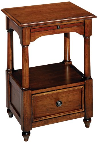 Image of American Mix Tobacco Finish One Drawer End Table (T2007222-00)
