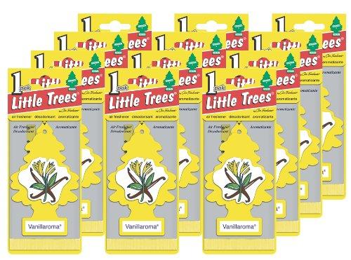 Little Trees Hanging Car and Home Air Freshener, Vanillaroma - Vanilla (Pack of 12)