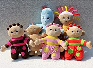 IN THE NIGHT GARDEN SET of 6 PLUSH SOFT TOYS 30-45CM