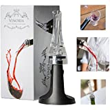 Vinoria Luxury Red Wine Aerator & Pourer - Perfect Gift - Comes with Table Stand and Gift Box - Fits Any Bottle
