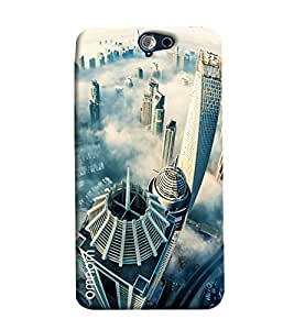 Omnam Dubai Sky View Printed Designer Back Cover Case For HTC One A9