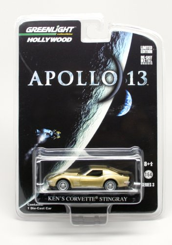 1970 CORVETTE STINGRAY from the movie APOLLO 13 Greenlight Collectibles 1:64 Scale * Hollywood Series 3 * Die Cast Vehicle - 1