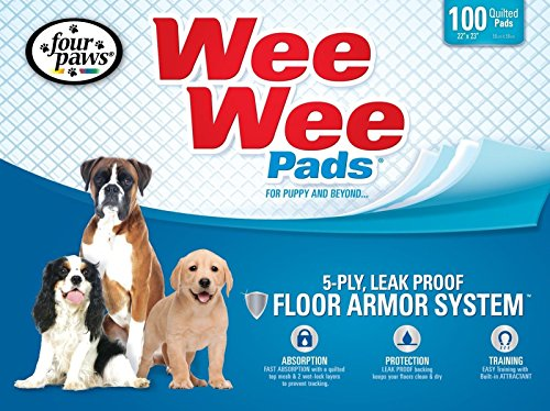 Four Paws Wee-Wee Puppy Dog Housebreaking Pads, 100-Pack Box Pee Urine NEW (Bullseye Pads compare prices)