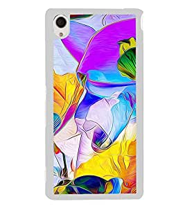 Bright Multicolour Fluid Pattern 2D Hard Polycarbonate Designer Back Case Cover for Sony Xperia M4 Aqua :: Sony Xperia M4 Aqua Dual