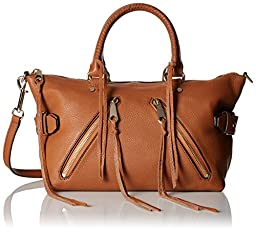 Rebecca Minkoff Moto Satchel Shoulder Bag, Almond, One Size