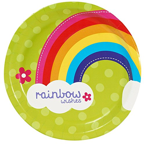 Rainbow Wishes Dinner Plates (8)