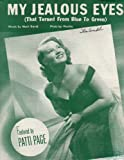 My Jealous Eyes Patti Page Vintage Sheet Music Z3105