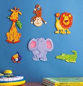 3D Jungle Animals Wall Decor - Nursery Art Stickers Decorations