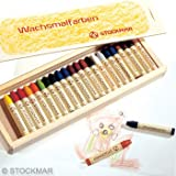 Stockmar Wachsmalstifte - 24 Farben im Holzkasten von Stockmar