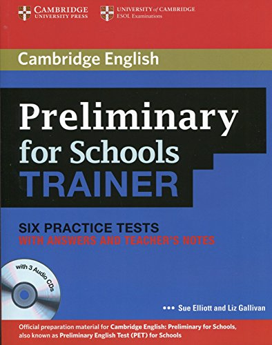 Six Practice tests with Answears, Teacher's notes and 3 Audio CDs