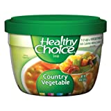 Healthy Choice Country Vegetable Soup, 14-Ounce Microwave Bowls (Pack of 12) ~ Healthy Choice