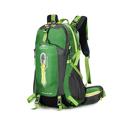 Outdoor sac à dos d'alpinisme / randonnée sac de Voyage multifonction-vert 50L