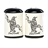 Penguin Swirl Salt & Pepper Set