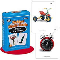 Webber Around the Home Photo Card Deck - Super Duper Educational Learning Toy for Kids