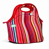 BUILT Neoprene Gourmet Getaway Lunch Tote, Stripe Number 10