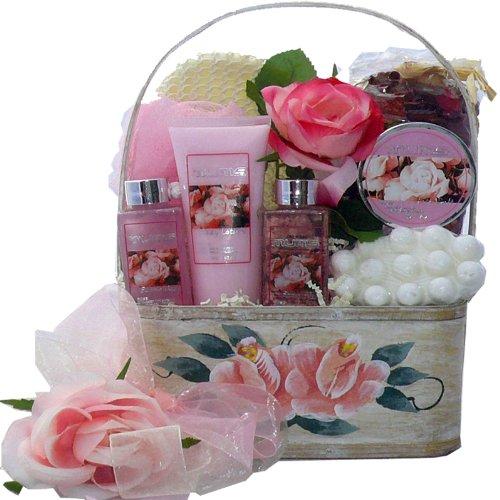 Mum's English Garden Rose Spa Set Bath and Body Gift Basket