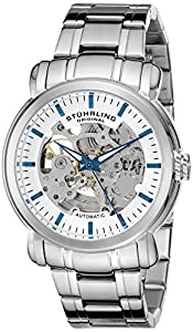 Stuhrling Original Men's 387.33112 Delphi Automatic Skeleton Stainless Steel Watch