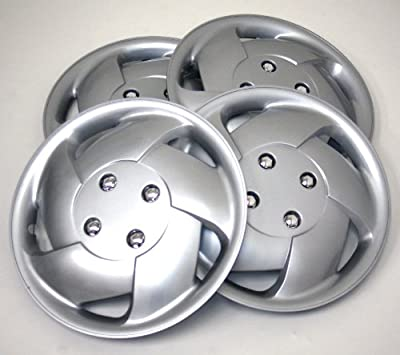 TuningPros WSC-083S15 Hubcaps Wheel Skin Cover 15-Inches Silver Set of 4