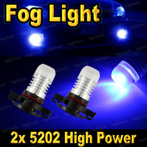 2 Pcs Ultra Blue H16 High Power Smd Led Headlight Bulbs For Driving Fog Light / Day Time Running Light Drl (Cross Reference: 2504 / 5200S / 5201 / 5202 / 9009 / Psx24W )