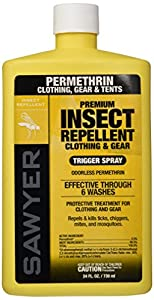 Sawyer Products Premium Permethrin Clothing Insect Repellent Trigger Spray, 24-Ounce