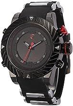 Shark Mens Digital Date Day Alarm LED Black Rubber Waterproof Sport Quartz Wrist Watch SH166