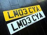 イギリス 英国 USEDナンバープレート 2枚組 LM03CYA