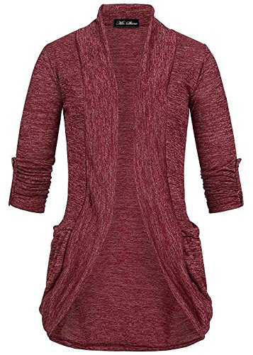 mrshine-damen-turn-up-cardigan-2-taschen-gr-s-xxl-l-bordeaux
