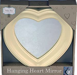 Shabby Chic White Ivory Wall Hanging Heart