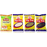 Tip-Top Corn Flour (500 Gms), Coconut Powder (100 Gms), Sounf (100 Gms), Pepper (100 Gms), Combo Pack Of 4