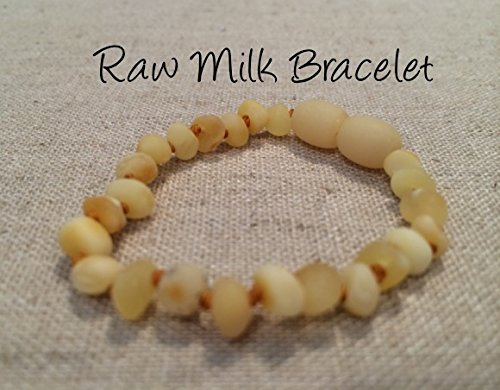 Baltic Amber Teething Bracelet For Babies And Toddlers Raw Milk front-854037