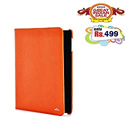 RSAFE Anti-Radiation 360 Degree Rotating PU Leather Smart Case Cover For Apple Ipad 3 (red)
