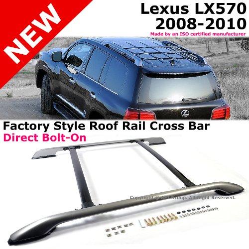 Lexus Lx570 08 10 Silver Black Roof Rack Side Rails Cross Bar Left Right Sides Reemononaeraa