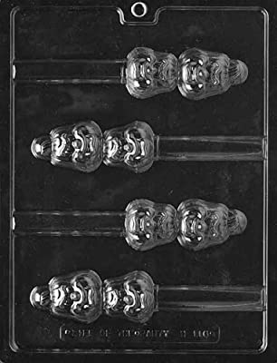 Cybrtrayd H116 Halloween Chocolate Candy Mold, Pumpkin Head Pretzel