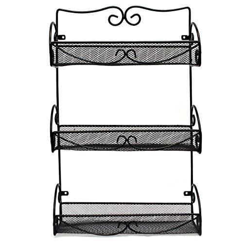 Sorbus® Spice Rack and Multi-Purpose Organizer - 3 Tier Wall Mounted Storage Rack