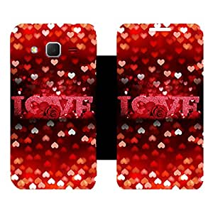 Phone Candy Designer Flip Cover with hi-res printed Vinyl sticker wrap-around for Samsung Galaxy Core Prime G360