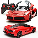 #10: Sunshine Remote Control Car with Opening Doors Rechargeable Ferrari Design (Red)