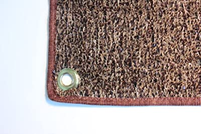 Outdoor Turf Rug / Aisle Runner - 3'x LENGTH - Brown Tan - Artificial Grass with Premium BOUND Nylon Edges and Grommits. 8 Oz. - 100% UV olefin. Light Weight Marine Back. Many Custom Sizes & Shapes Available