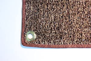 Outdoor Turf Rug / Aisle Runner - HALF ROUND 8'X4' Brown Tan - Artificial Grass with Premium BOUND Nylon Edges and Grommits. 8 Oz. - 100% UV olefin. Light Weight Marine Back. Many Custom Sizes & Shapes Available